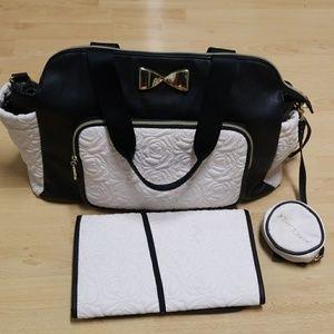 Betsy Johnson diaper bag (3piece)